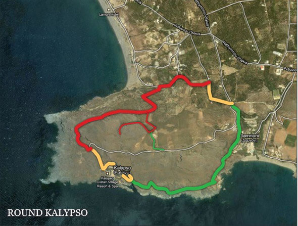 Trekking Route around Kalypso
