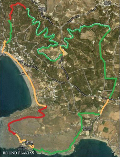 Trekking Route around Plakias